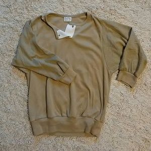 Tan crop vintage sweatshirt